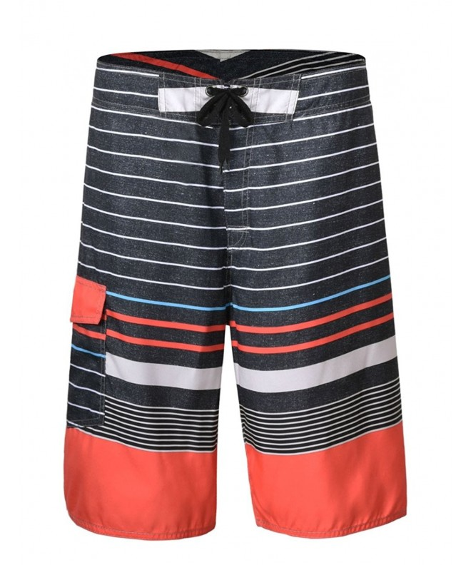 Hilor Shorts Boardshorts Striped Pattern