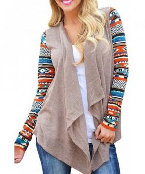ChongXiao Womens Geometric Sweater Cardigan
