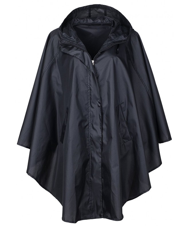 QZUnique Waterproof Packable Batwing Sleeved Raincoat