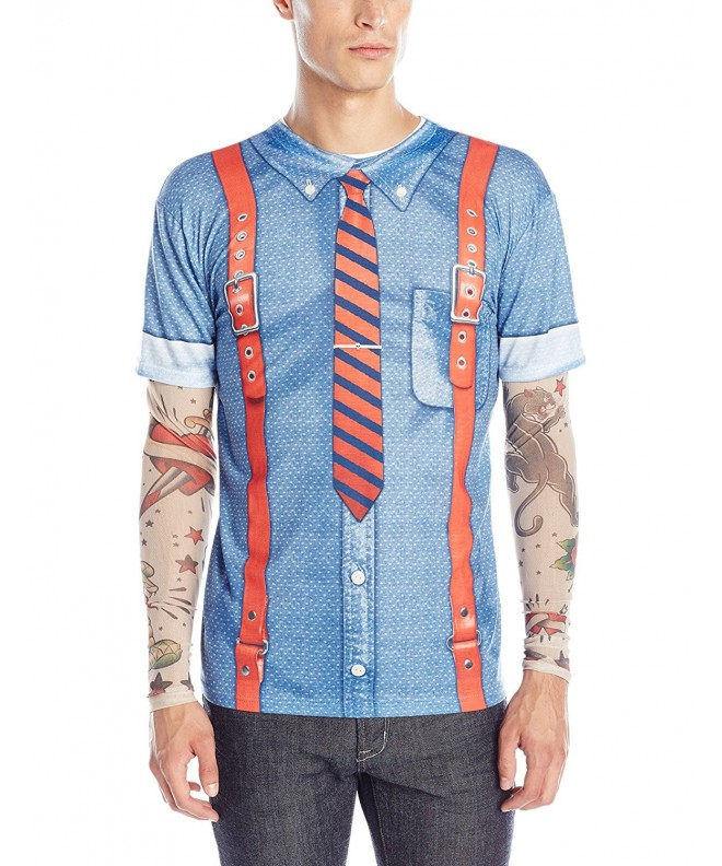Faux Real Hipster Suspenders Sleeves