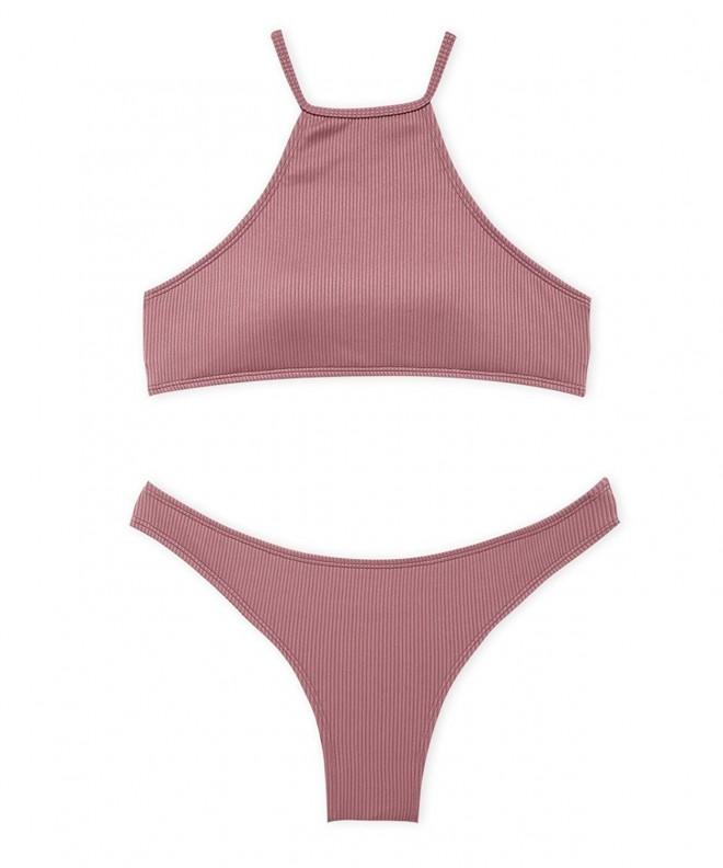 Tinyo Halter Bikini Swimsuit DarkPink